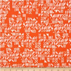 Cotton & Steel Clover Tiny Tiles Persimmon