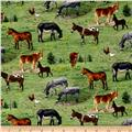 Farm Animals Mules Green