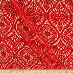 Sunburst Medallion Lace Cayenne