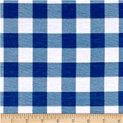 Lightweight Jersey Knit Mosaic Gingham Denim