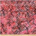 Bali Batiks Handpaints Chevron Brush Sunset