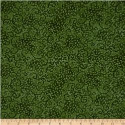 Leafy Scroll 108'' Wide Back Green