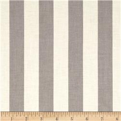 "Riley Blake Le Creme Basics Medium 1"" Stripe Grey/Cream"