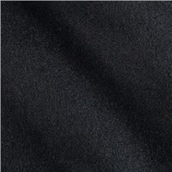 11.6 oz Wool Nylon Melton Black Fabric