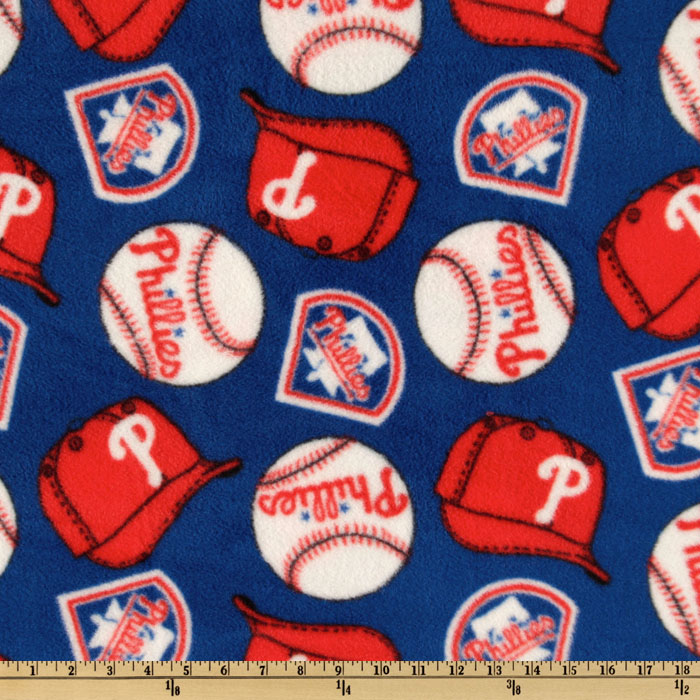 MLB Fleece Philadelphia Phillies Allover White/Red/Blue