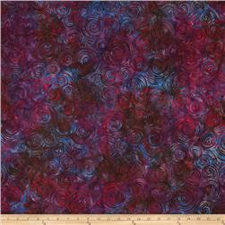 Batavian Batiks Spinning Circles Purple/Red