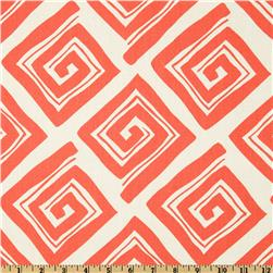 Premier Prints Maze Coral/White Fabric