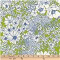 Kaufman Laurel Canyon Tight Floral Lime