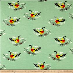 Birch Organic Charley Harper Western Birds Interlock Knit Western Tanager
