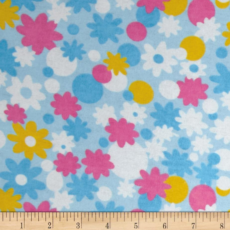 Newcastle Flannel Minnie Floral Blue
