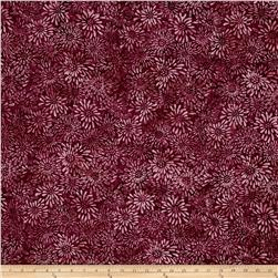 Wilmington Batiks Dancing Petals Burgundy