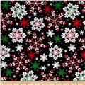 Kanvas Winter Story Packed Snowflake Black