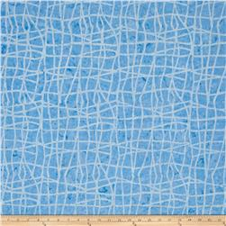 Colorama Batiks Wavy Plaid Sky