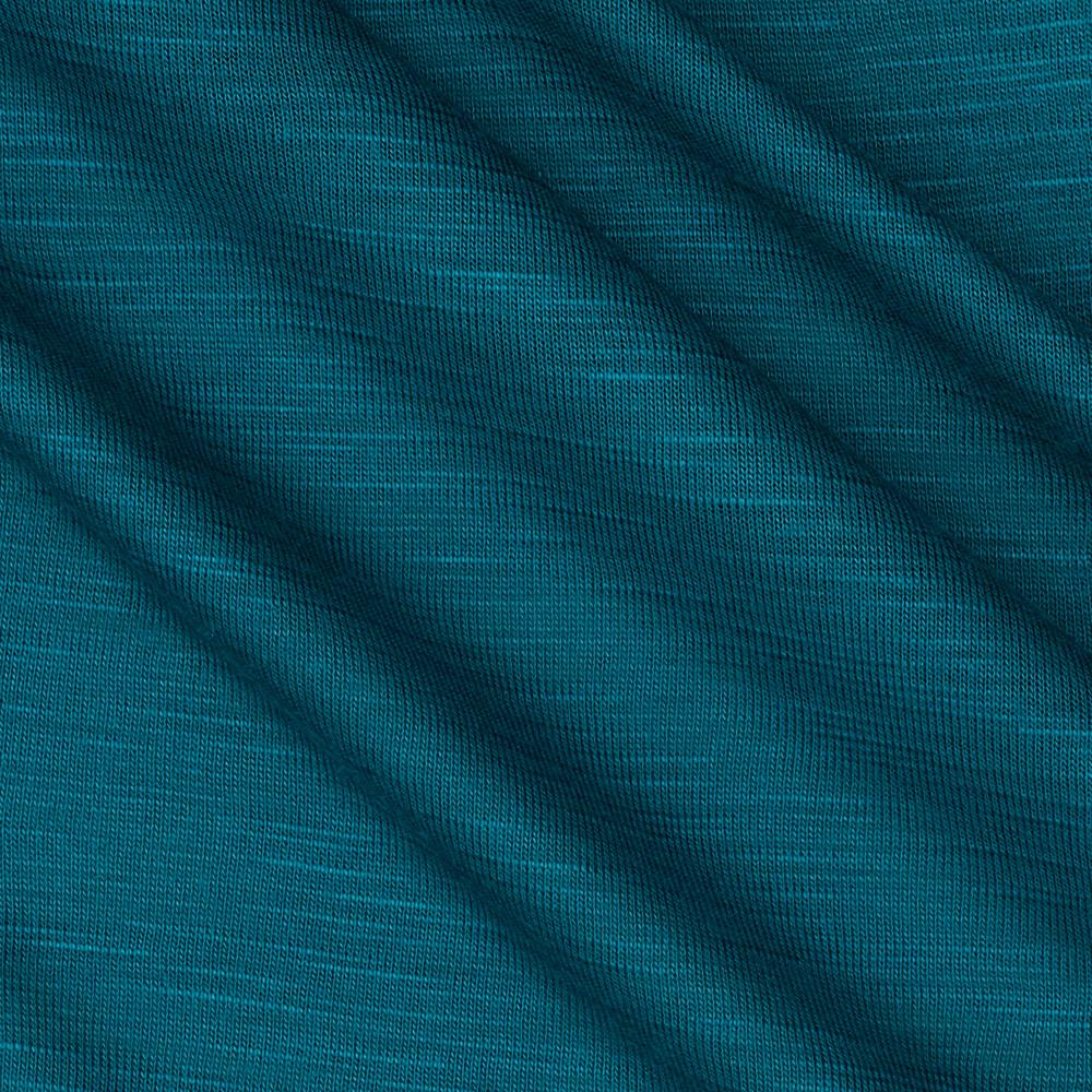 Rayon Slub Jersey Knit Teal Green