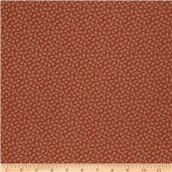 French General Petite Floral Jacquard Rural Red Fabric