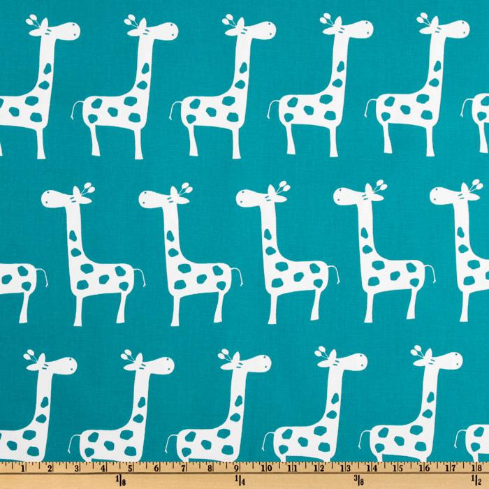 Premier prints ozborne true turquoise discount designer for Nursery print fabric