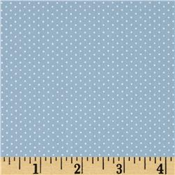 Kaufman Sevenberry Petite Basics Mini Dot Dusty Blue