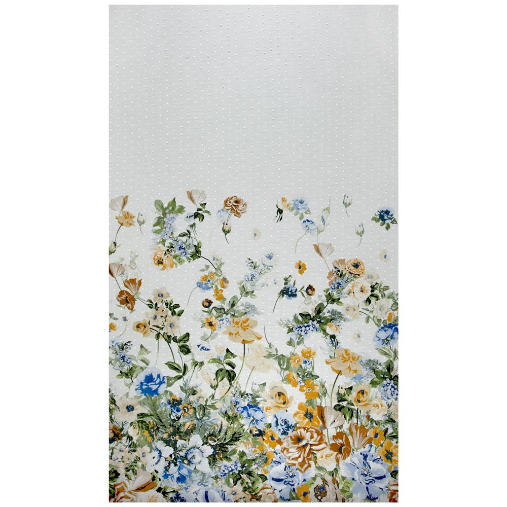 Telio Swiss Dot Floral Print White/Blue