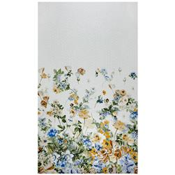 Swiss Dot Floral Print White/Blue