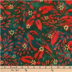 Kaufman Batiks Metallic Northwood Birds Holiday
