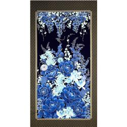 Timeless Treasures Imperial Garden 24 In. Metallic Floral