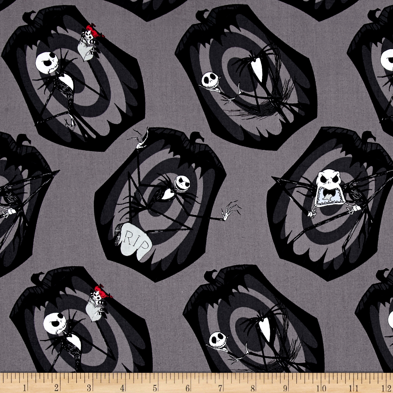 The Nightmare Before Christmas The Pumpkin King Iron Fabric by Eugene in USA