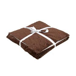 "Shannon Minky Cuddle Cakes 10"" Cuddle 3 Asst. Hot Chocolate/Multi Browns"