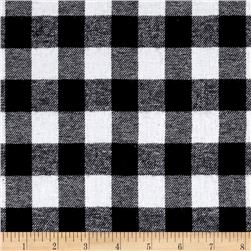 Yarn Dyed Flannel Check Black/White