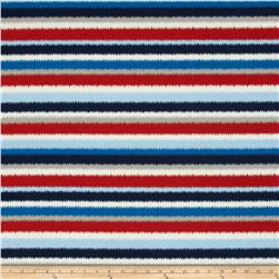 Tempo Indoor/Outdoor Cardio Run Stripe Red/Blue Fabric