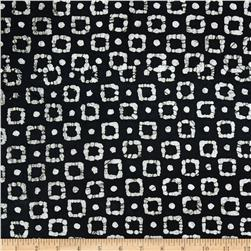 Indian Batiks Squares Black/White