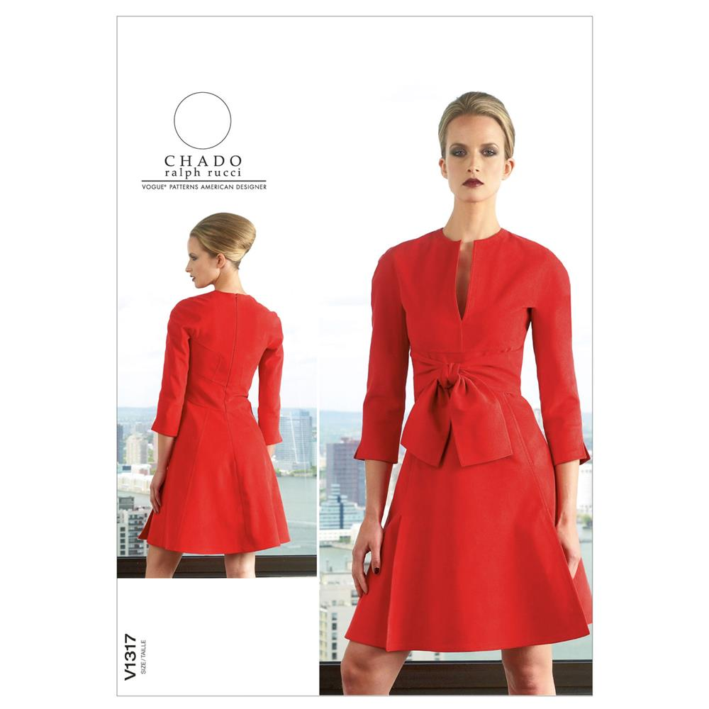 Vogue Misses' Dress Pattern V1317 Size B50