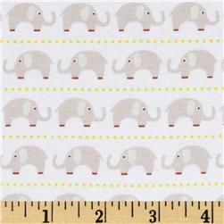 Riley Blake Cotton Jersey Knit Oh Boy Elephants Grey