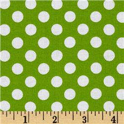 Kaufman Spot On Medium Dot Lime Fabric