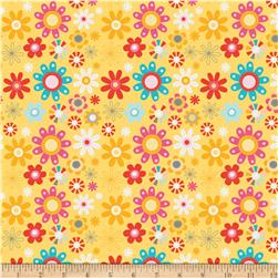 Riley Blake Girl Crazy Floral Yellow Fabric