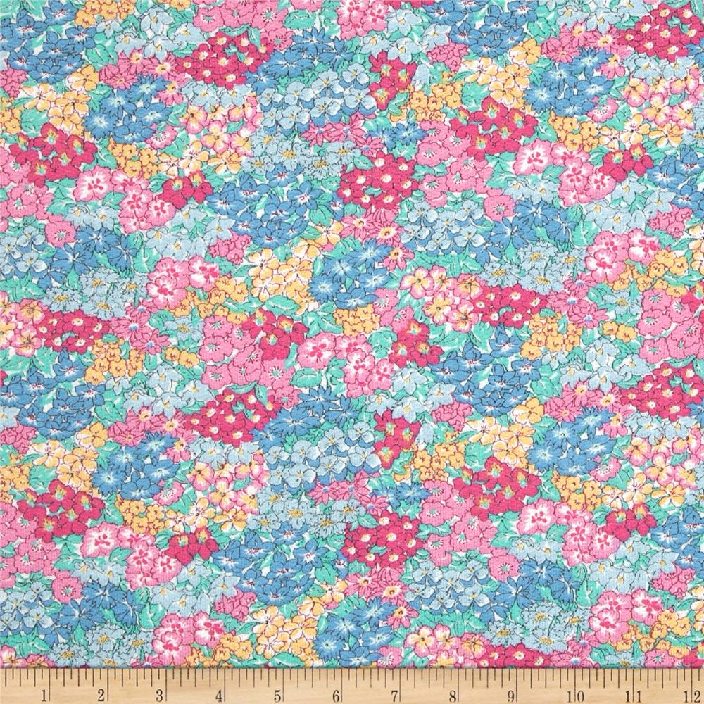 Liberty of London Murray Loopback Terry Garden Wonderland Pink/Blue