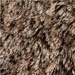 Faux Fur Frosted Shag Chocolate Fabric