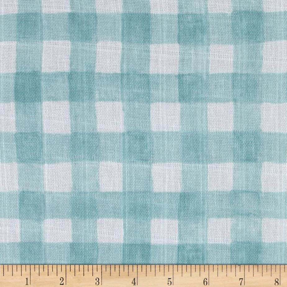 Michael Miller Sommer Double Gauze Mini Painted Gingham Mist