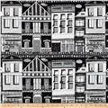 Illustrations 2 Houses Black/White