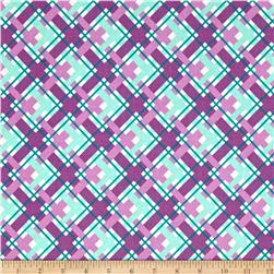 Hello Jane Plaid Lilac