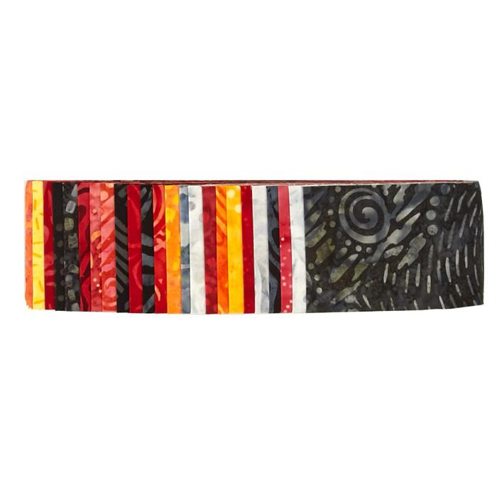 "Wilmington Batiks 2.5"" Strips Wanted Red or Alive"