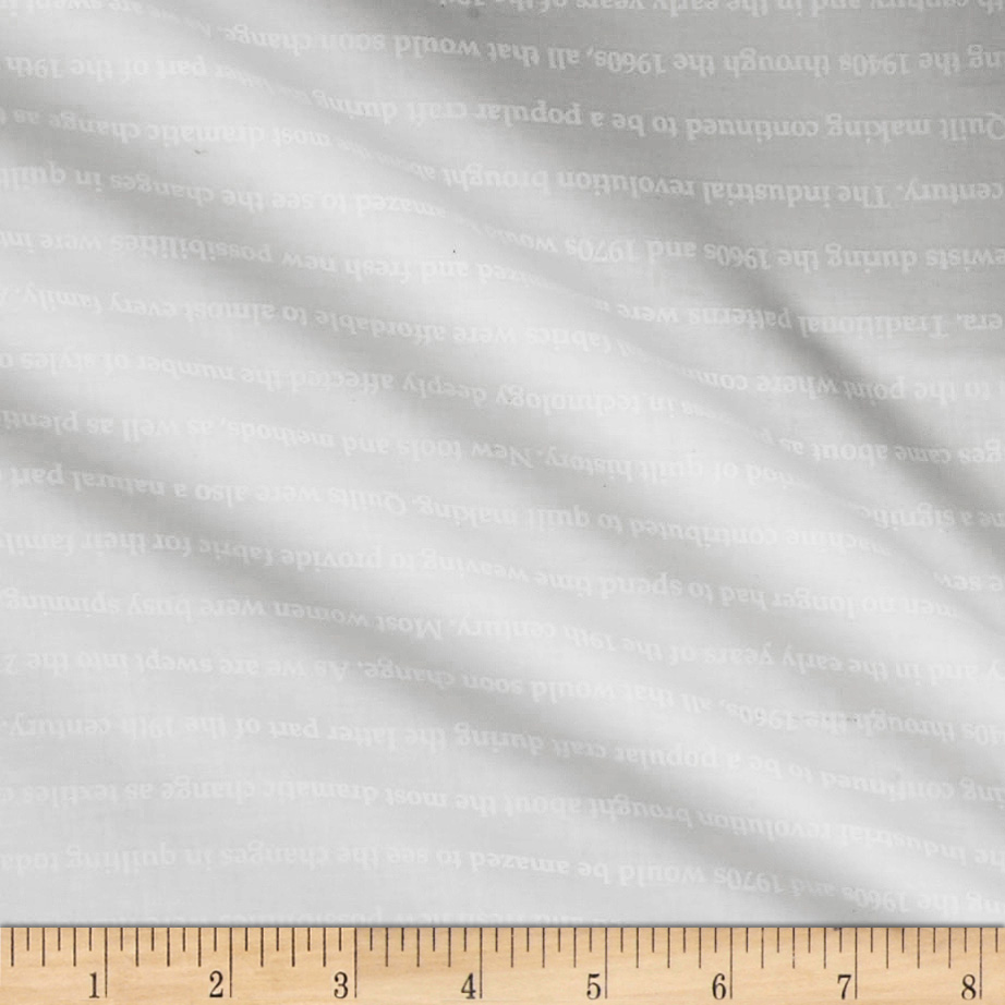 Fine Print Sewing History White/white Fabric