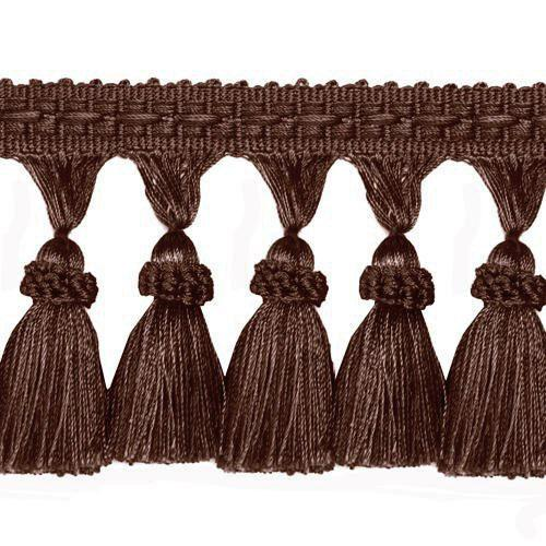 World Wide Malibu Solid Tassel Fringe Chocolate