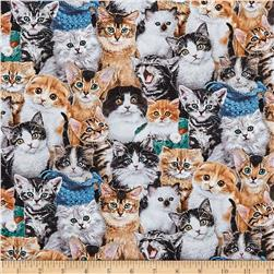 Cat Breeds Packed Cats Multi Fabric