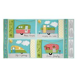 "On The Road Again Placemat 25"" Panel Multi"