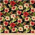 Moda Sunshine Hibiscus Flower Black