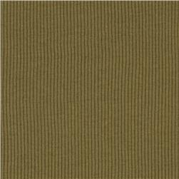 Cotton Rib Knit Khaki Green