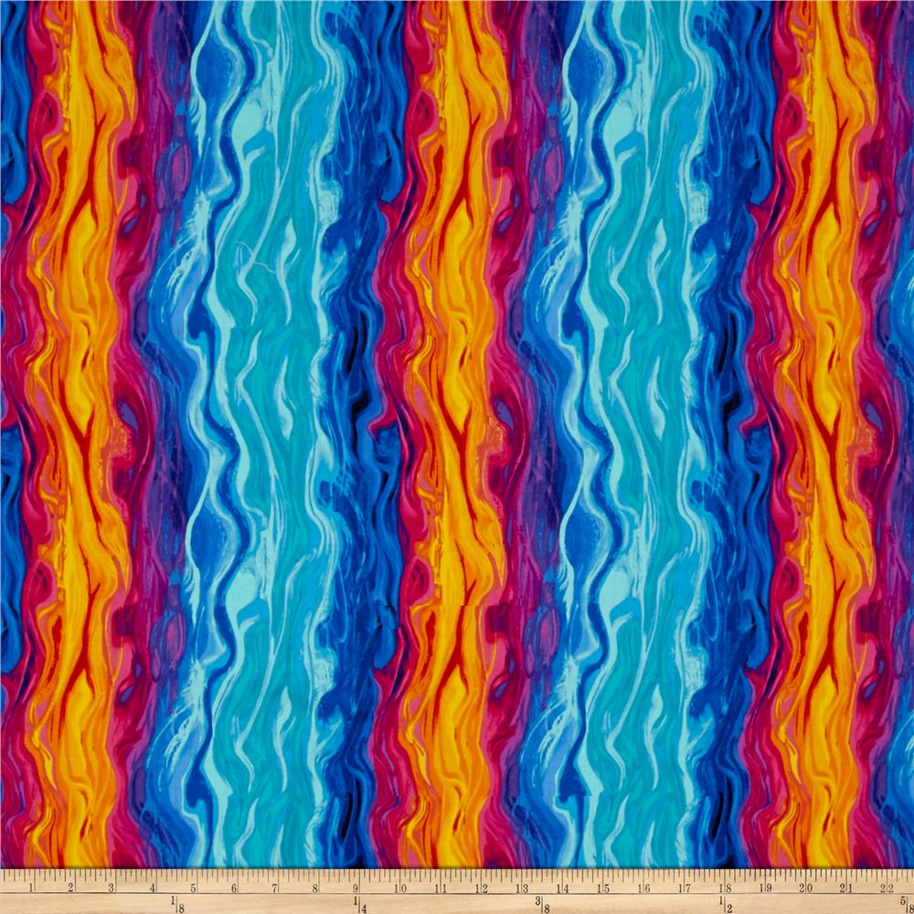 Timeless Treasures Monterey Squiggle Stripe Multi