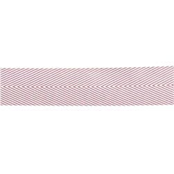 "May Arts 1 1/2"" Chevron Twill Ribbon Spool Mauve"