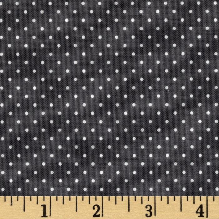 Riley Blake Think Pink Dots Grey