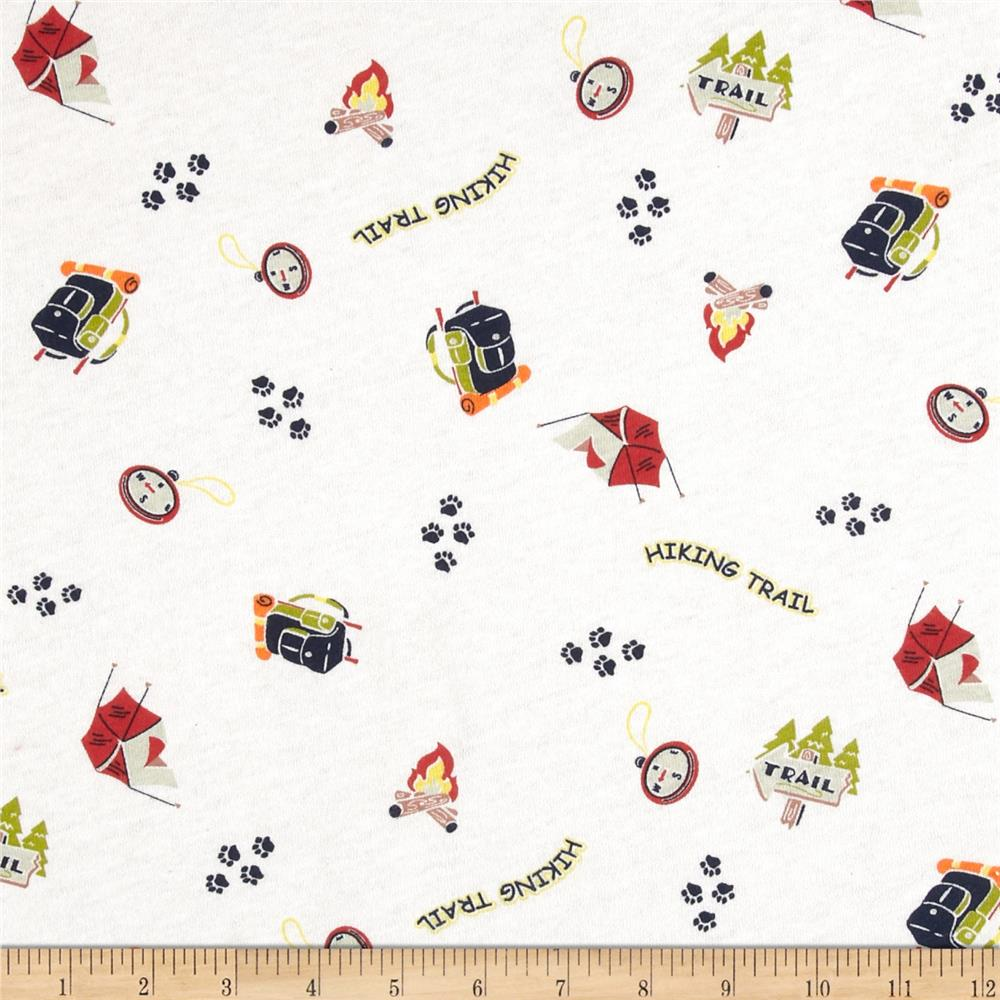 Scout collection trail cotton jersey knit white discount for Children s jersey fabric